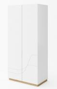 Šatní skříň WAVE bílá/dub riviera