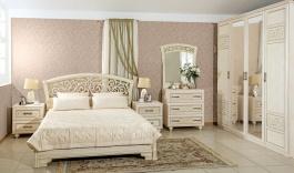 Sestava nábytku do ložnice Sofia I s postelí 160x200cm - béžová/lento