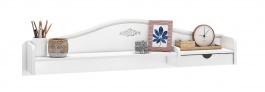 Malý nástavec nad psací stůl Betty - bílá/šedá