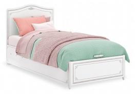 Dětská postel s úložným prostorem Betty 100x200cm - bílá/šedá