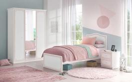 Malý dětský pokoj Betty - bílá/růžová