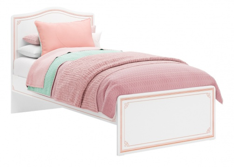 Dětská postel Betty 100x200cm - bílá/růžová