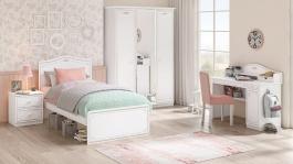 Dívčí pokoj Betty - bílá/šedá