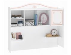 Nástavec nad psací stůl Betty - bílá/růžová