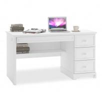 Zásuvkový psací stůl Ballerina - bílá
