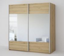 *ECO 200 2D2L šatní skříň se zrcadlem sonoma
