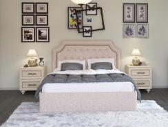 Čalouněná postel s roštem Ronny 160x200cm - béžová