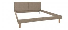 Čalouněná postel s roštem Marila 160x200cm - hnědá