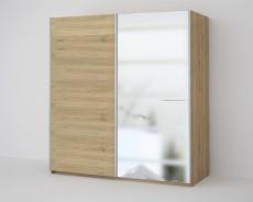 *ECO 200 2DL šatní skříň se zrcadlem sonoma