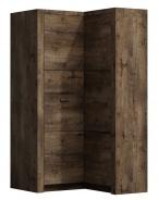 Rohová šatní skříň INDIANAPOLIS I-14 jasan tmavý