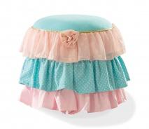 Pufík Ballerina - lososová/mint/růžová