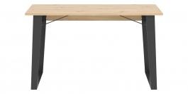 Jídelní stůl Alfred - dub artisan/černá