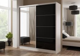 Šatní skříň WIKA bílá/černá