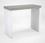 Jídelní stůl Lilly - beton/bílý