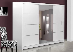 Šatní skříň VISTA 250 bílá