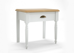 Noční stolek Belinda - bílá/dub masiv