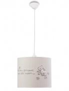 Dětské stropní osvětlení Chloe - bílá/šedá