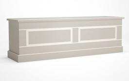 Lavice Casandra - šedá/bílá patina