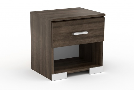 Noční stolek Space s šuplíkem – ořech římský