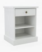 Noční stolek Casandra - bílý