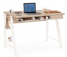 Malý studentský psací stůl Veronica - dub světlý/bílá