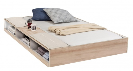 Zásuvka 90x190cm s úložným prostorem k posteli Veronica - dub světlý/bílá