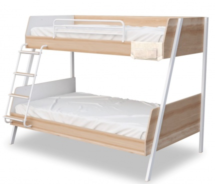 Studentská patrová postel 90x200-120x200cm Veronica - dub světlý/bílá