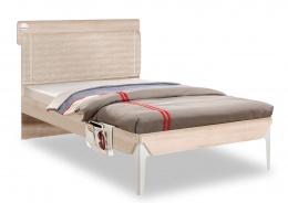 Studentská postel 120x200cm s poličkou Veronica - dub světlý/bílá