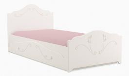 Dětská postel se šuplíkem Harmonia 90x200cm - bílá