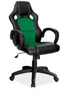 Kancelářské křeslo Q-103 černá/zelená