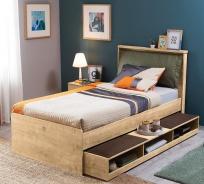Dětská postel se zásuvkou Cody 100x200cm - dub světlý