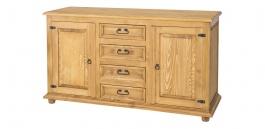Dřevěná komoda kombinovaná COM 21 - výběr moření