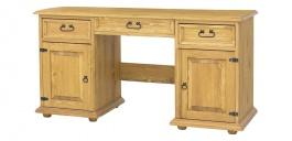 Masivní psací stůl BIK 08A - výběr moření