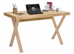 Minimalistický psací stůl Cody - dub světlý/béžová