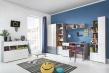 Kolekce Omega v místnosti - bílá/dub/beton