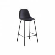 Barová stolička, tmavěšedá látka/kov, MARIOLA NEW