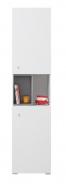 Vysoká skříňka Omega - bílá/beton