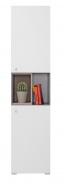Vysoká skříňka Omega - bílá/dub/beton