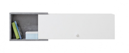 Závěsná police Omega I - bílá/beton