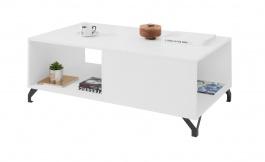 Konferenční stolek Bjorn, skandinávský styl - bílá