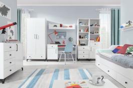 Dětský pokoj Bjorn, skandinávský styl - bílá