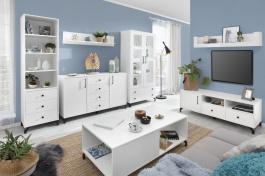 Obývací pokoj Bjorn B, skandinávský styl - bílá