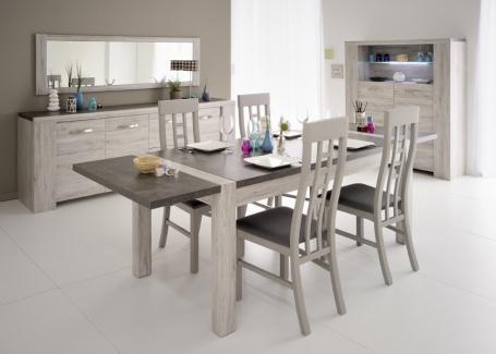 Přídavná deska k jídelnímu stolu Lordo - dub šedý