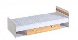 Dětská postel 80x195cm s úložným prostorem Melisa - bílá/dub nash