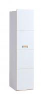Jednodveřová šatní skříň Melisa - bílá/dub nash