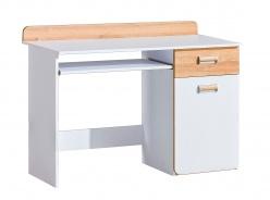 Počítačový stůl Melisa - bílá/dub nash