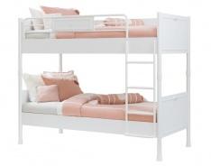 Dětská patrová postel 90x200cm Ema - bílá