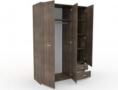Šatní skříň třídvéřová Space – ořech římský