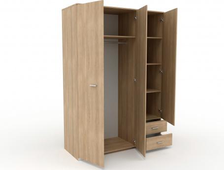 Šatní skříň třídvéřová dub brooklyn