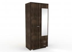 Šatní skříň se zrcadlem Space – ořech římský